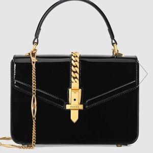 Gucci 1969 Sylvie Patent leather purse